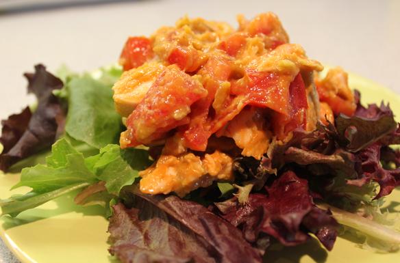Chicken guac salad