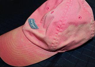 Pink sweaty hat