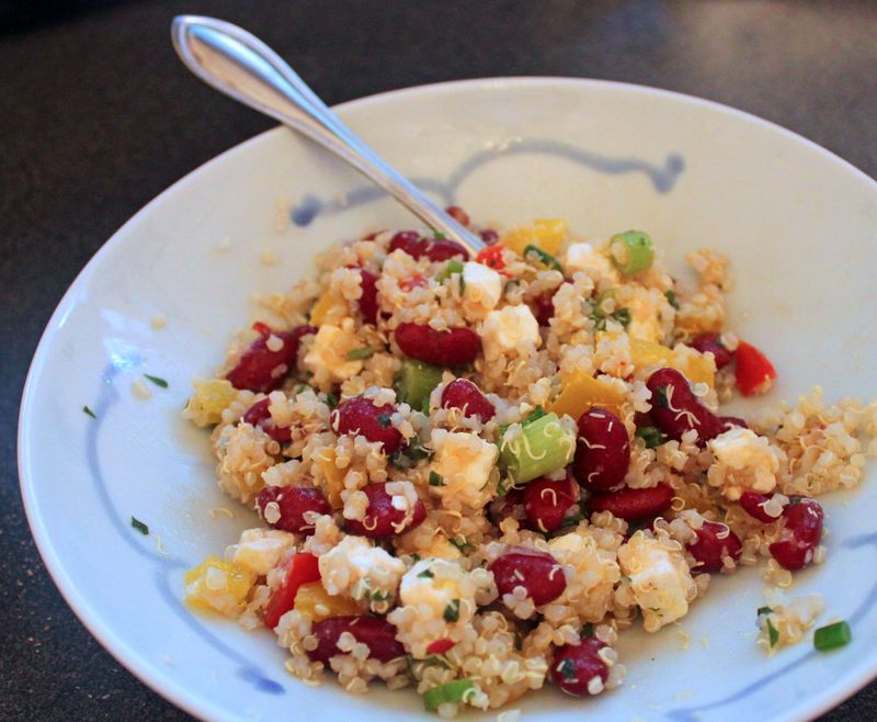 Deliverlean quinoa bean salad