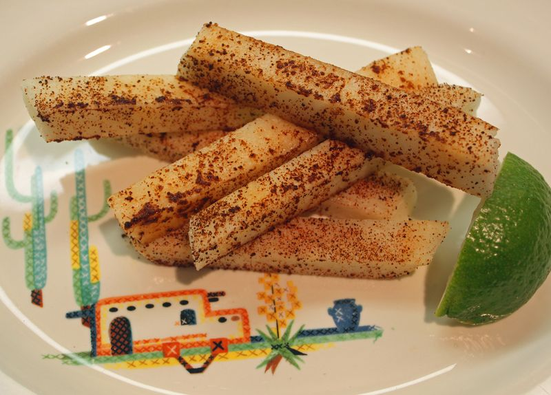 Spiced jicama