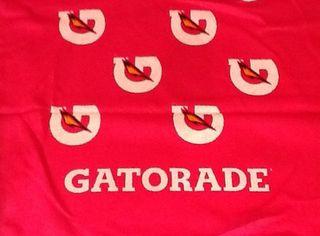 Pink gatorade towel
