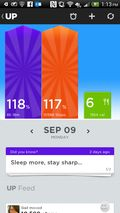 Jawbone app screenshot