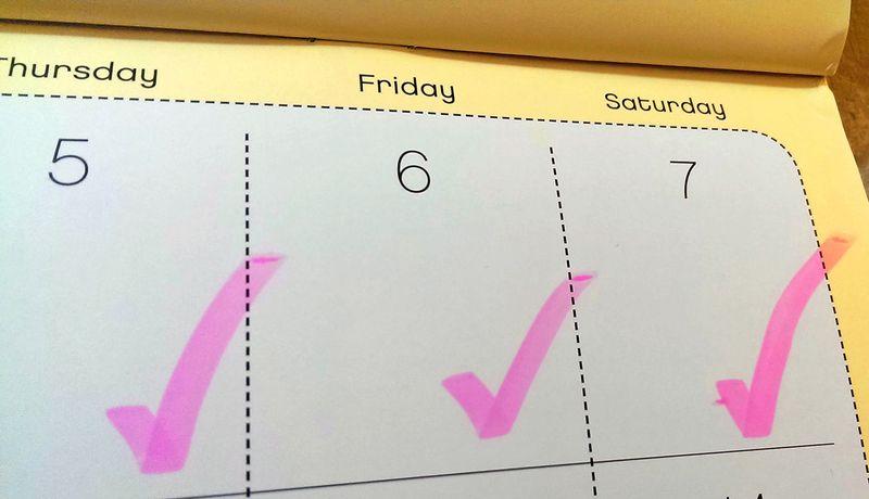 Calendar checks