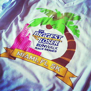 Biggest loser runwalk race shirt 2014