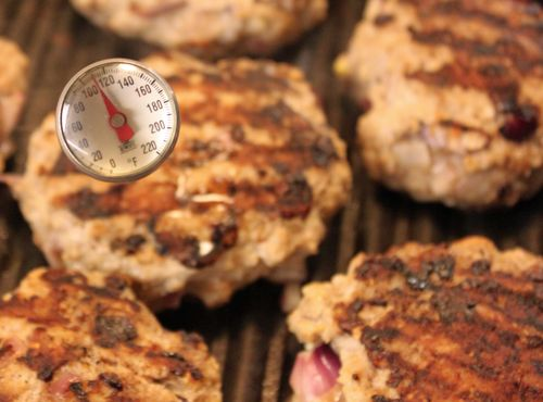 Covered turkey burgers