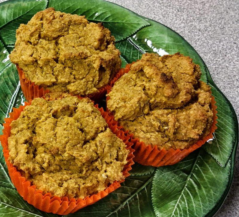 Sweet potato sorghum oat flax muffins