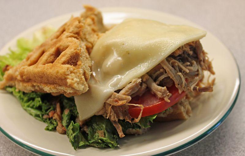 FMP fontina pork waffle