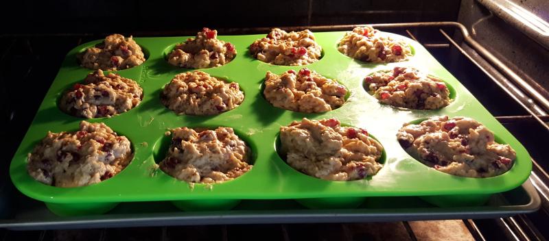 Muffins baking