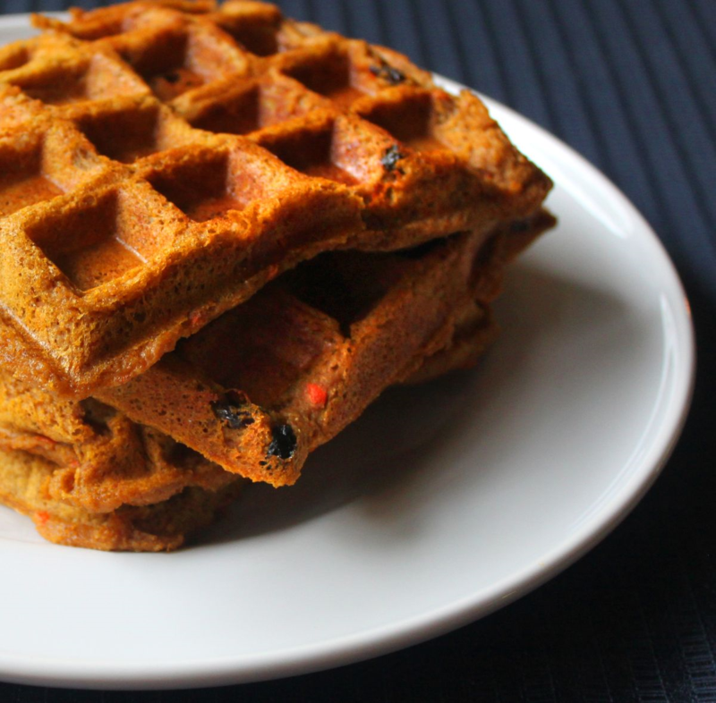 Carrot pumpkin flapjacked waffles