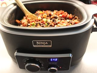 Chili cooking in the ninja